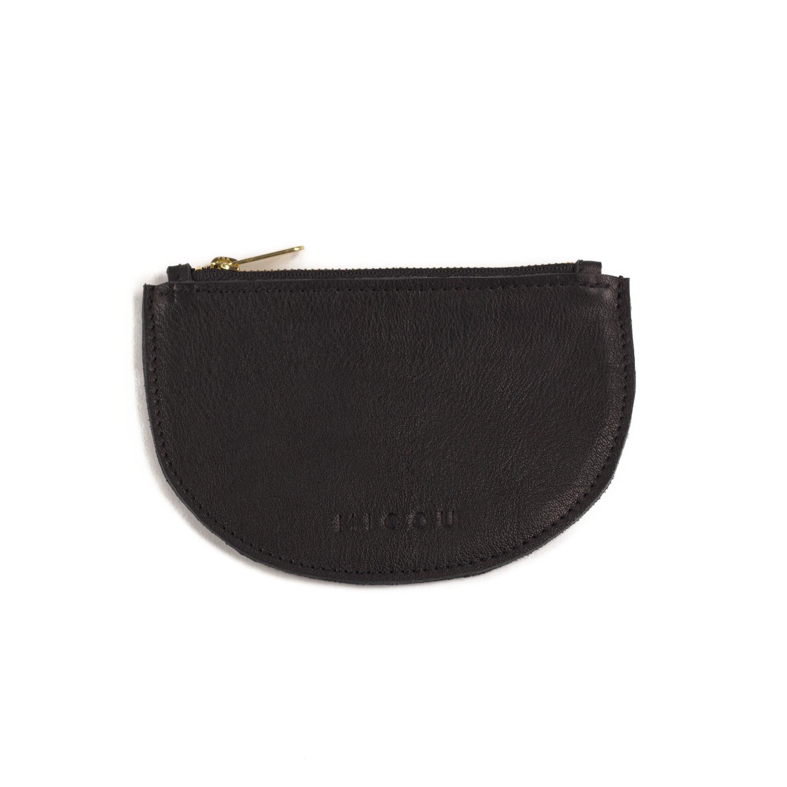 Das ist Portemonnaie Lara in Schwarz in der Vorderansicht.